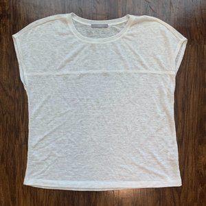 tart white knit blouse - size s